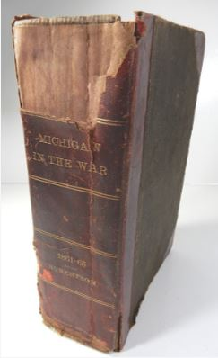 1882 MICHIGA IN THE WAR BOOK