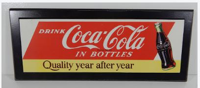 COCA COLA WOOD SIGN