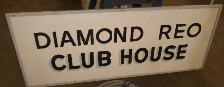 REO CLUB HOUSE SIGN