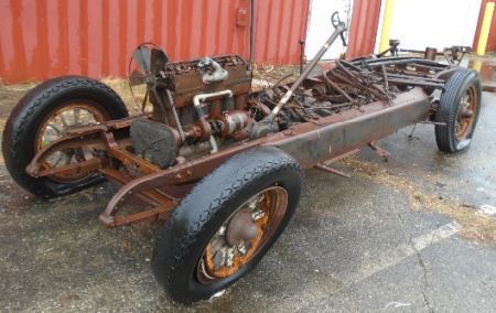 OLD CAR CHASSIS