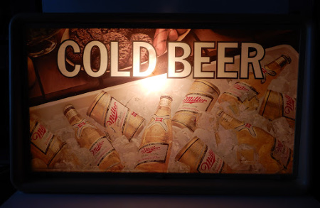 MILLER COLD BEER LIGHTED SIGN