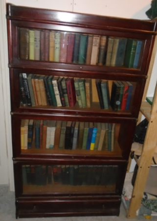 BARRISTER BOOKCASE & OLD BOOKS