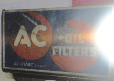 AC OIL FILTER SIGN
