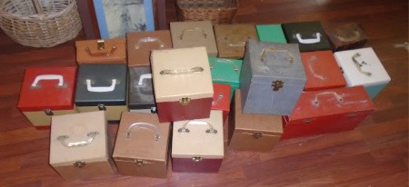 45RPM RECORD CASES FULL OF RECORDS