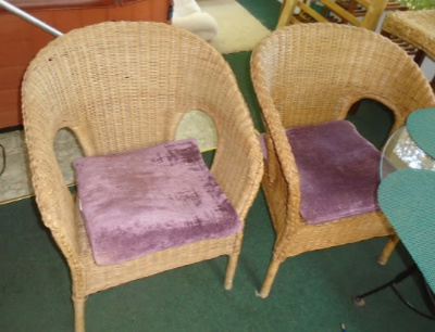 WICKER DECK CHAIRS