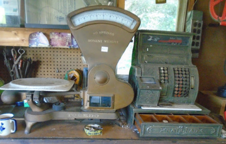 NATIONAL BRASS CASH REGISTER-TOLEDO PRODUCE SCALE