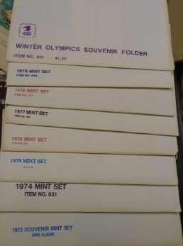 1973--80 US MINT SETS