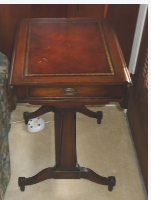 2 MAHOGANY DROP LEAF END TABLES