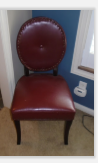 VINYL ACCENT CHAIR