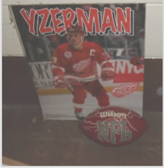 YZERMAN POSTER NFL FOOTBALL