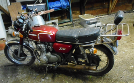 1973 HONDA 350 FOUR MOTORCYCLE