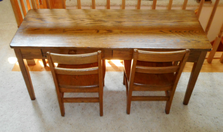 OAK CHILDS TABLE SET