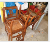 DUNCAN FIFE CHAIRS & TABLE